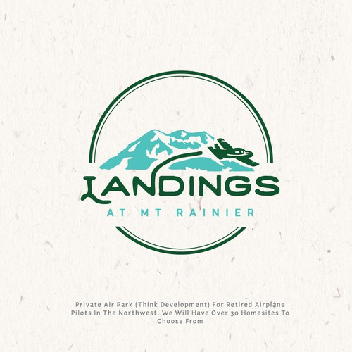 logo concept for  landings at mt rainier