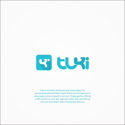 concept logo for tuki running app