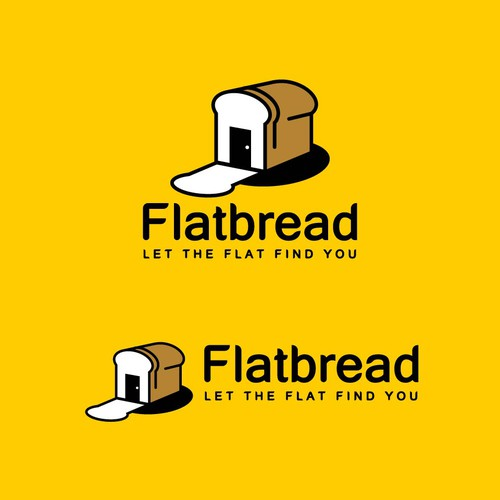 modern logo concept for Flatbread