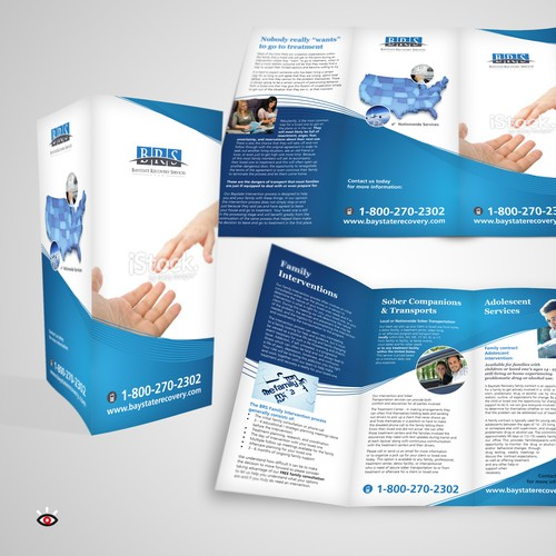 Create a professional visualy stimulating brochure to rebrand our company