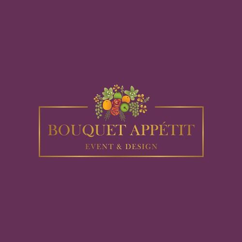 Modern and luxurious logo targeting weddings - Bouquet Appétit.