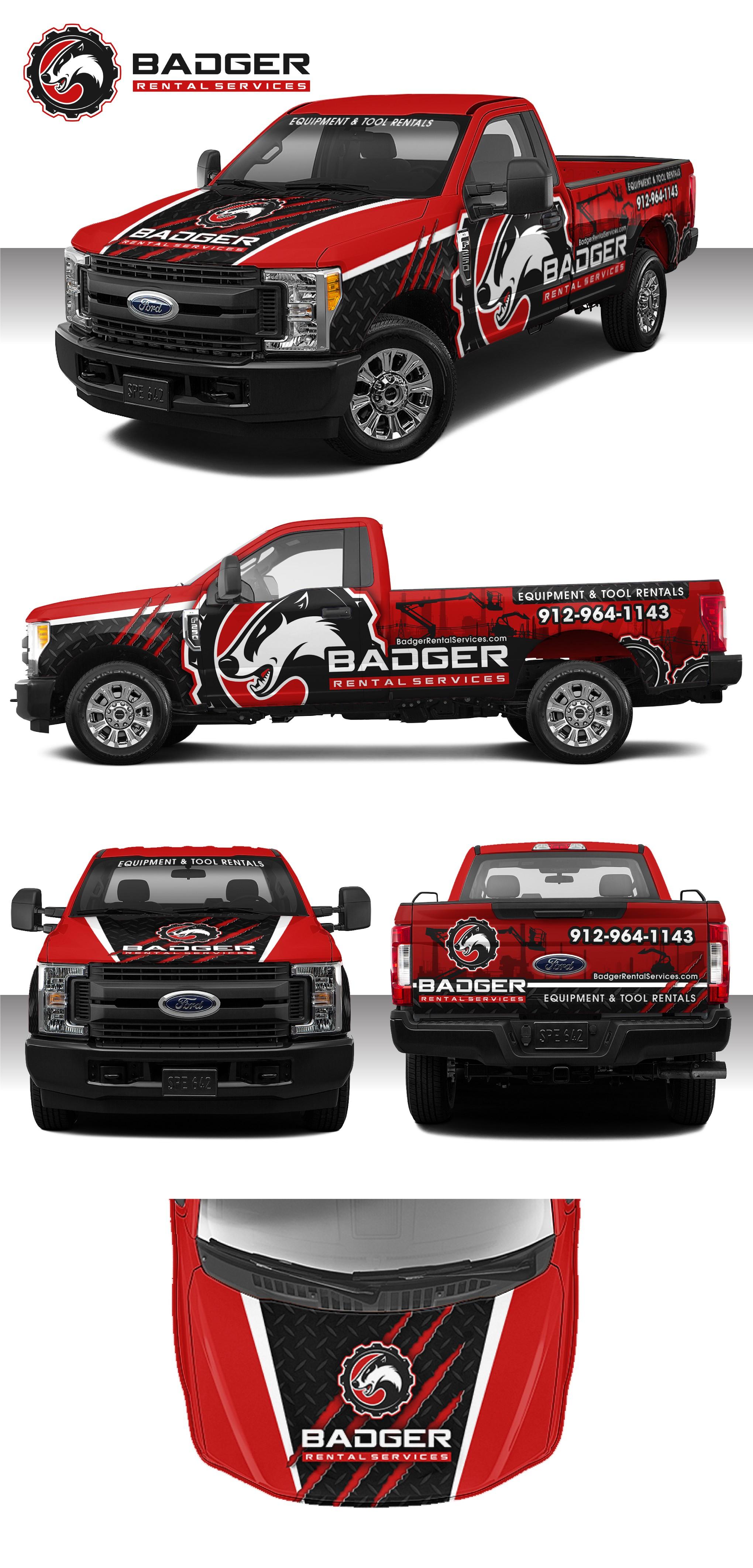 Wrap Badger Rental's Trucks!