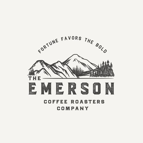 Logo proposal for The Emerson Coffee Roasters Company
