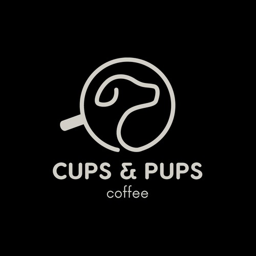 Minimalist logo for dog friendly coffee shop