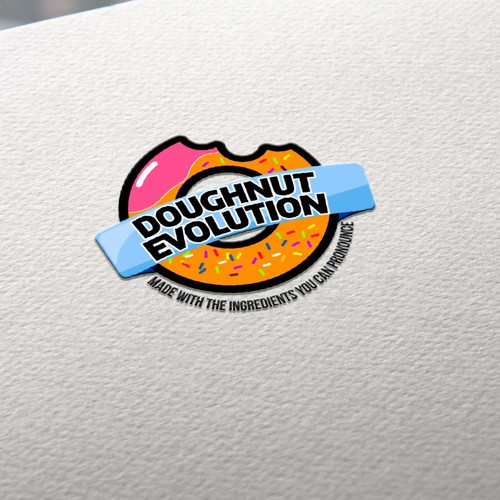 logo concept for donut shop