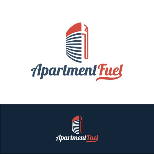 Clever logo for a apartment marketing agency