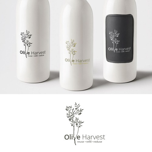 Logo concept for Olive Oil brand.