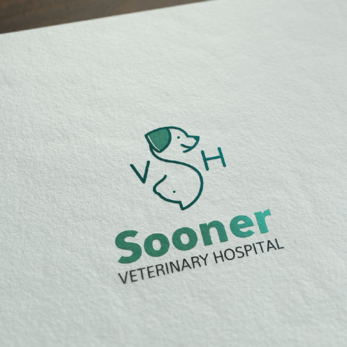 monogram minimal cat and dog logo