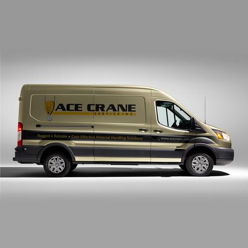 Corporate van wrap