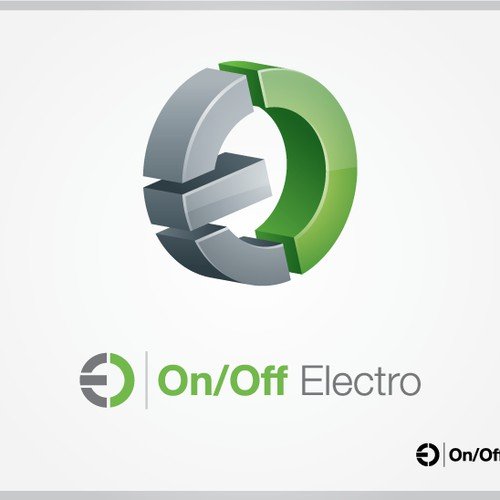 Bold logo concept for On/Off Electro