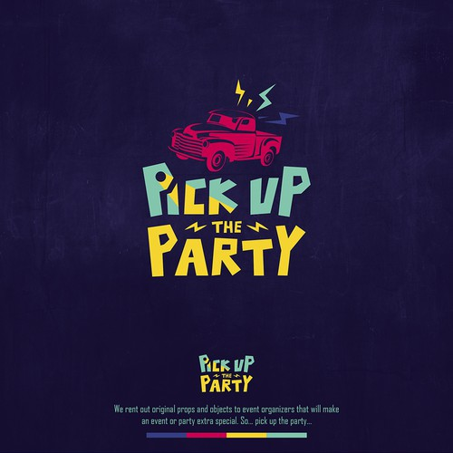 Logo Design Concept for Pick Up the Party