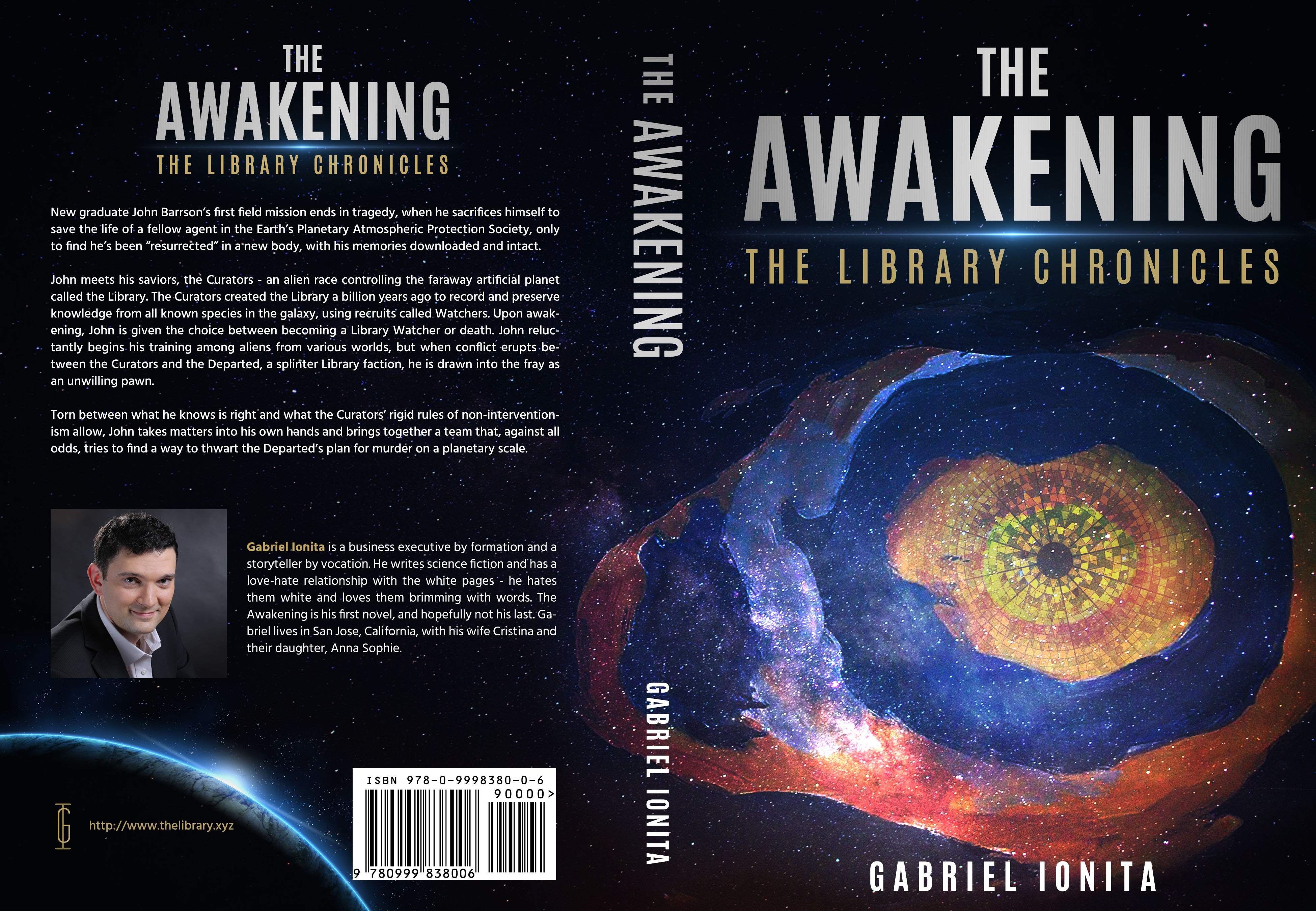 I need a powerful cover for my debut SF novel, The Awakening