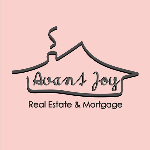 Logo concept for real estate and mortgage