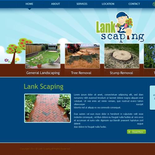 Landscape website design required