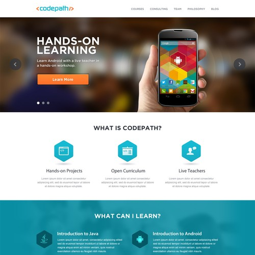 Help CodePath with a new website design
