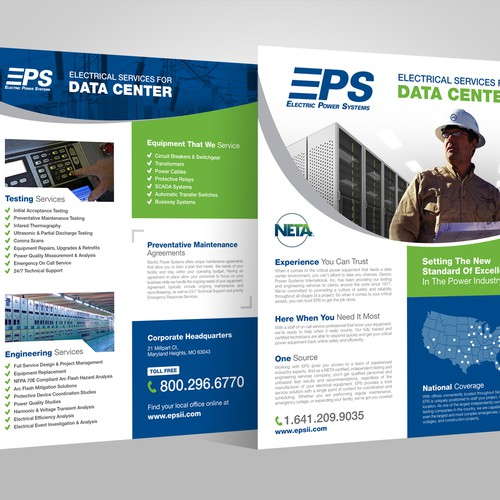 Design a technical line card for an Electrical Engineering Specialty Firm - EPS