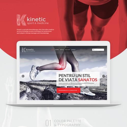 Website design - Kinetic