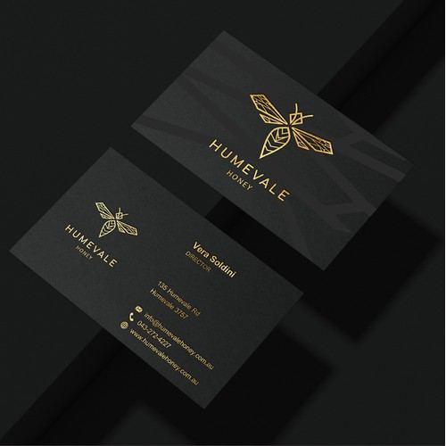 Business Card for Humevale Honey