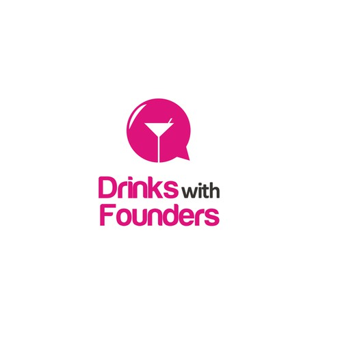 Drinks with Founders online video series logo design contest!