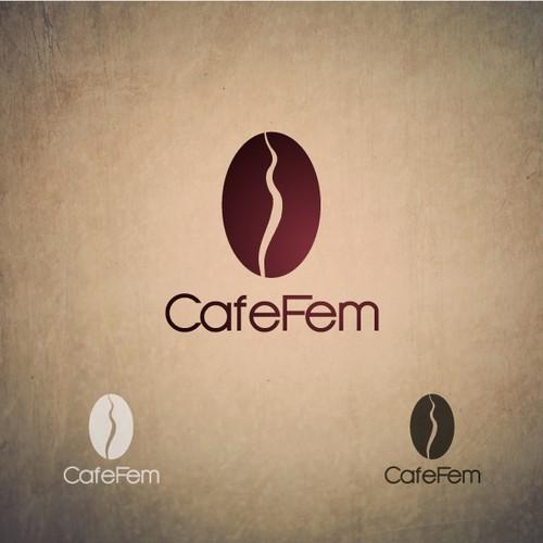 a logo for CafeFem!