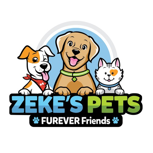 Design a hip and cool logo for a Pet Services organization