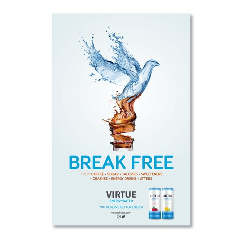 Subway billboard campaign - Virtue Energy Water