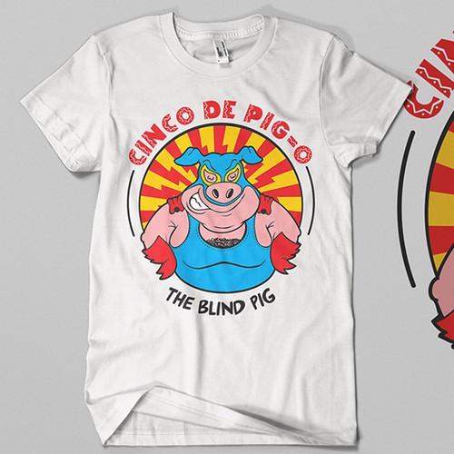 Mexican Wrestler Themed T-shirt Design