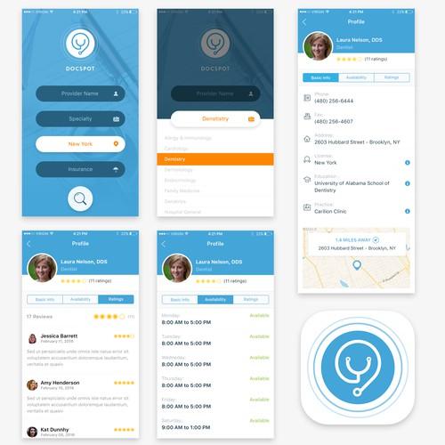 Doctor Finder App Design Concept