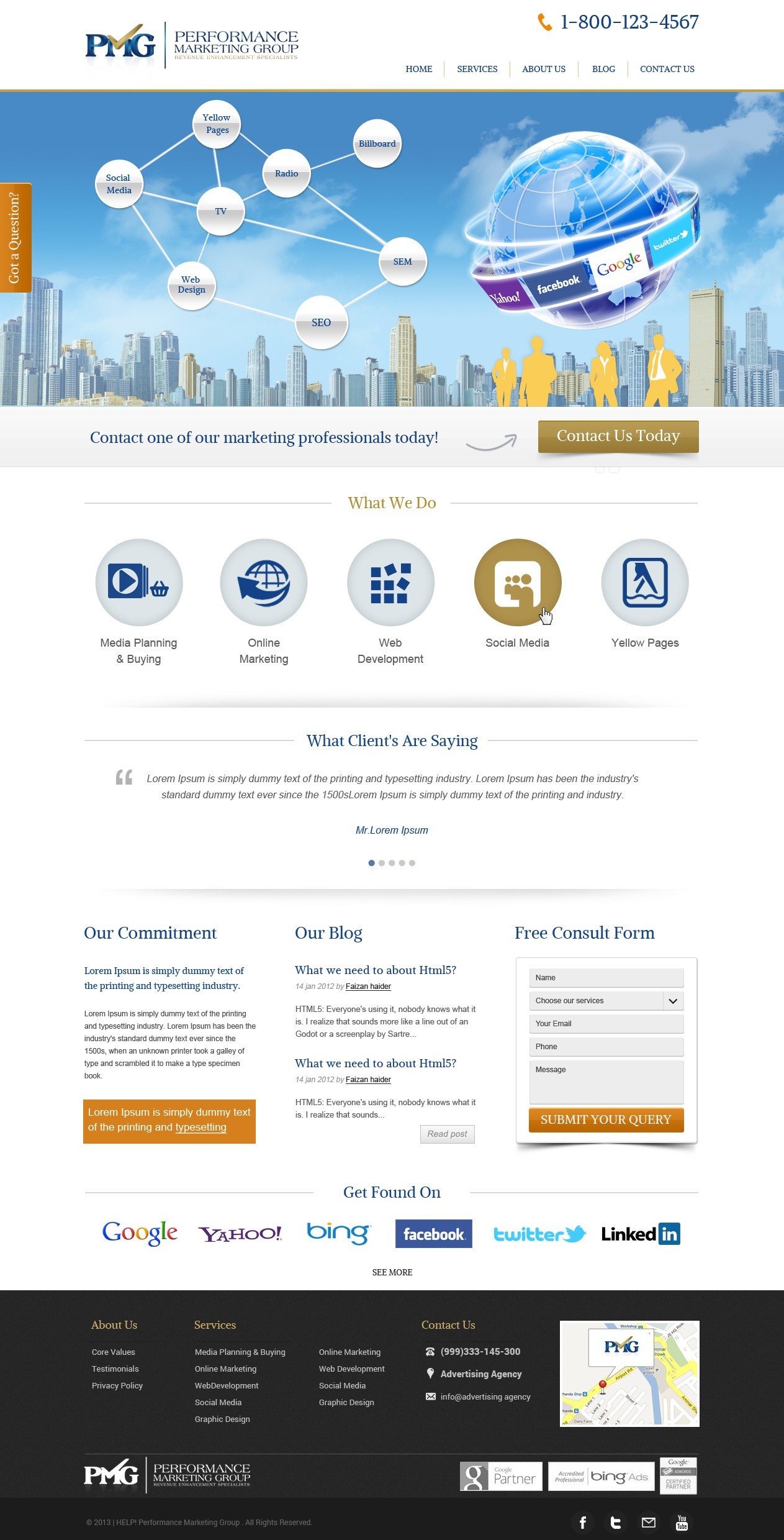 Help HELP! Performance Marketing Group with a new website design