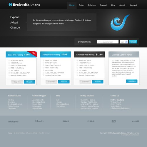 **Web Hosting Design, Evolved Solutions**