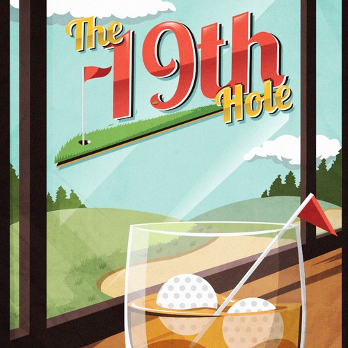 """Guaranteed! """"19th Hole"""" golf poster for our upcoming webstore!"""