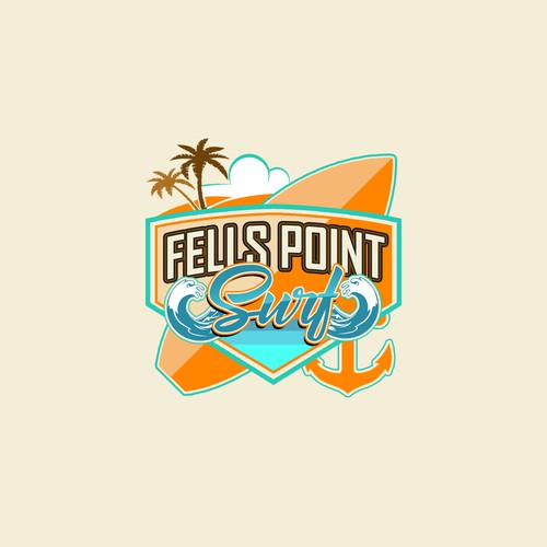 Logo concept for beach mechandise