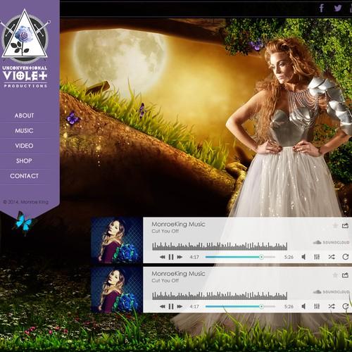 Music *Pop Singer* MONROE KING Website Design needed!!