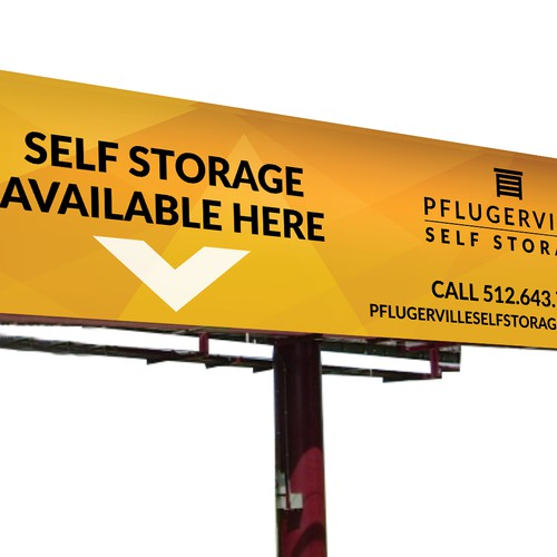 High Signage for Self Storage Facility