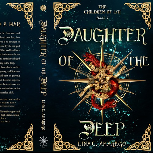 This is my bookcover design for the fantasy novel 'Daughter Of The Deep' by Lina C. Amarego