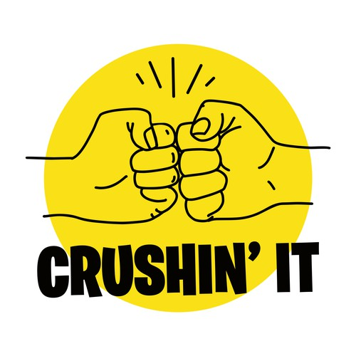 Bold graphic to celebrate 'Crushin' it'