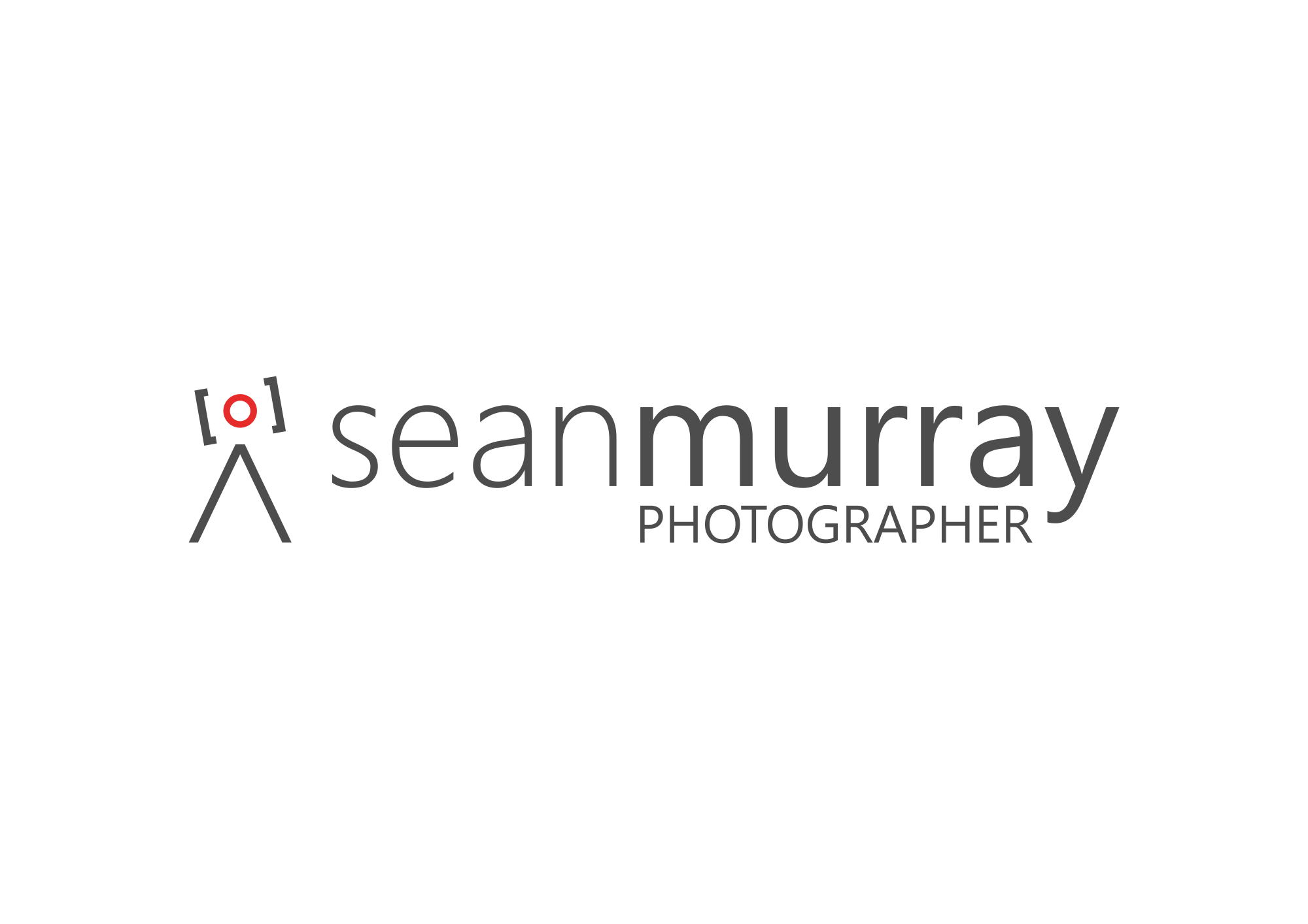 Simple logo for a freelance commercial photographer