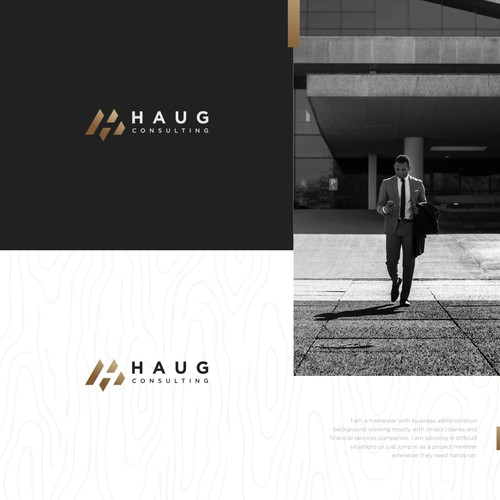 Bold and Stong Logo For Haug Consulting