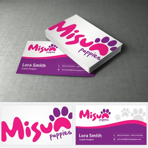 Create the next logo for Misun Puppies