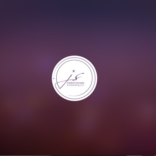 Logo design for JS Creative concept