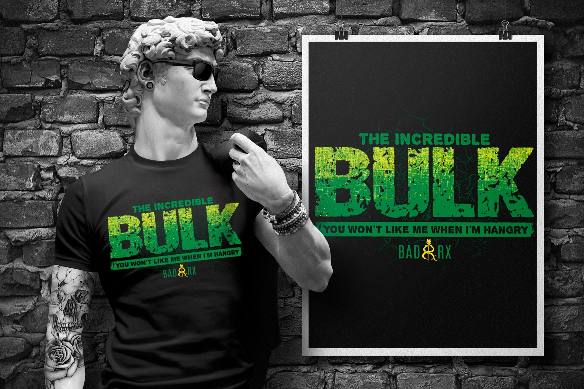 """Powerlifter/Strongman/Weightlifter Incredible """"Hulk"""" themed shirt"""