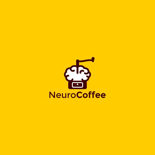 Neuro coffe concept logo