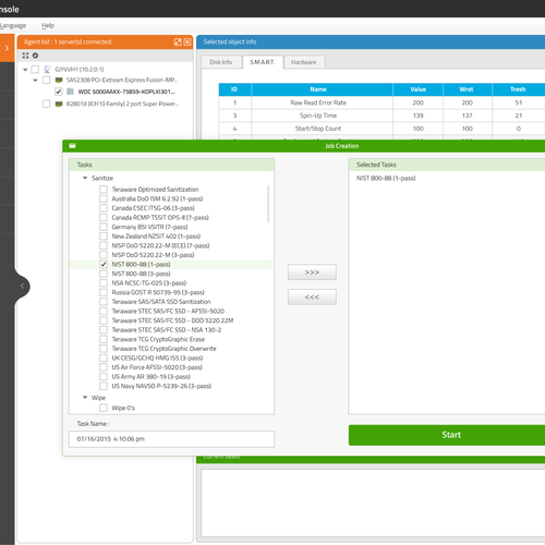 Linux App screen design.