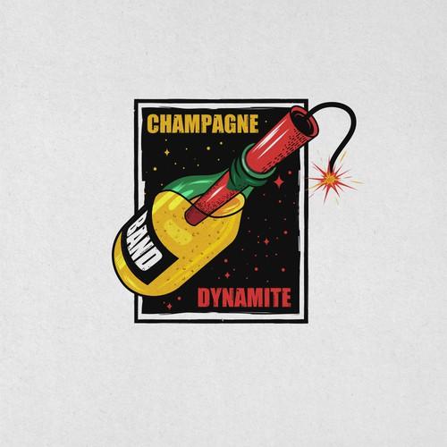 CHAMPAGNE DYNAMITE BAND LOGO