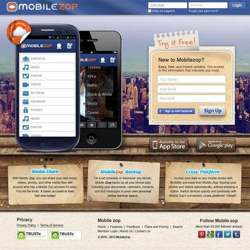 website design for www.mobilezop.com