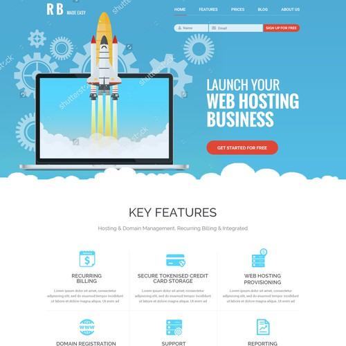 Landing Page for a new SAAS web based billing platform