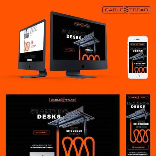 Web page design for technology desk
