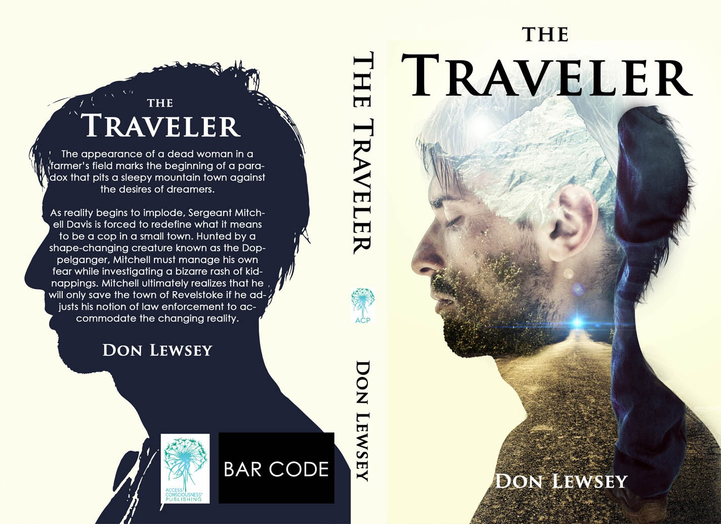 "Wanted: Book cover for ""The Traveler"" -  suspense, thriller, action, fantasy"