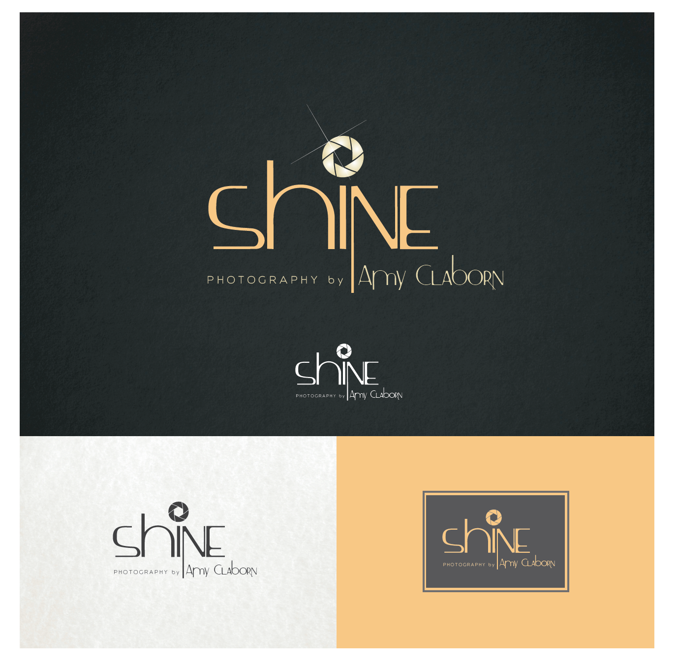 Create a modern, sophisticated look for Shine Photography by Amy Claborn