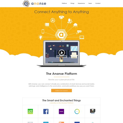 Landing Page Design Concept For Ananse